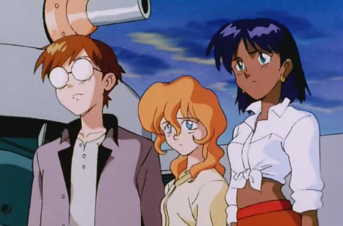Nadia e Jean in una puntata de Il mistero della pietra azzurra