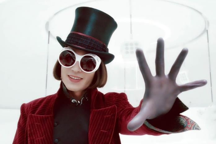 Johnny Depp nel ruolo di Willy Wonka