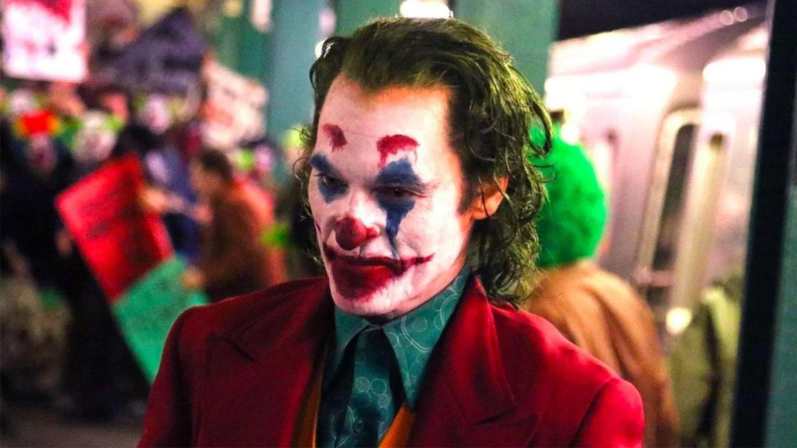 Joker in una scena del film