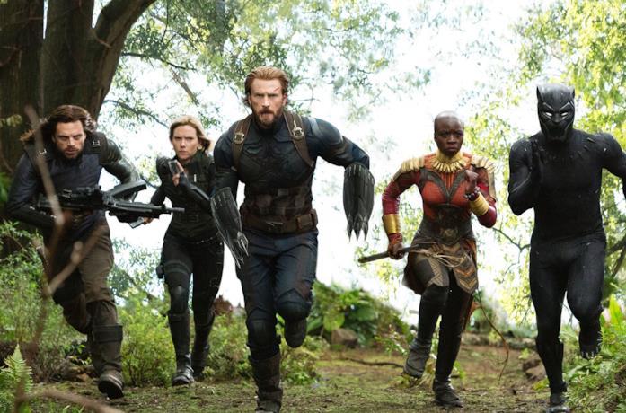 La carica in Avengers: Infinity War