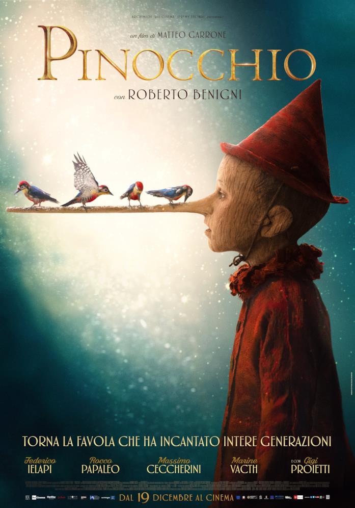 Poster ufficiale di Pinocchio di Matteo Garrone