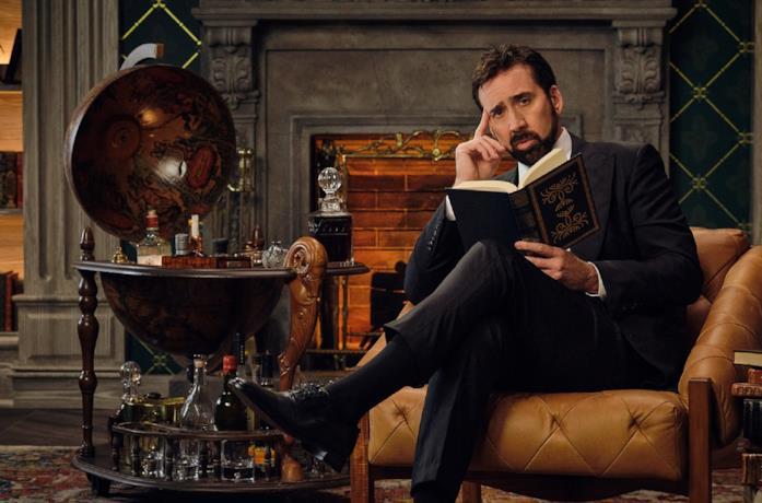 Nicolas Cage in una scena della serie Netflix History of Swear Words