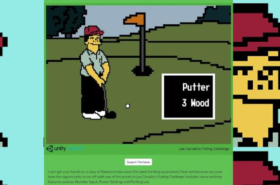 Il videogame online Lee Carvallo's Putting Challenge