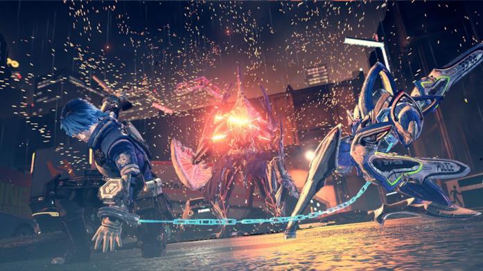 Azione frenetica in Astral Chain su Nintendo Switch