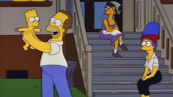 I Simpson in un flashback