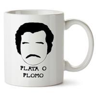 """Pablo Escobar Mug """"Plata O Plomo"""""""