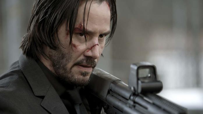 Keanu Reeves in una scena di John Wick