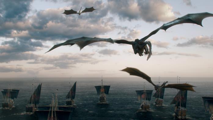 Draghi nella stagione 6 di Game of Thrones