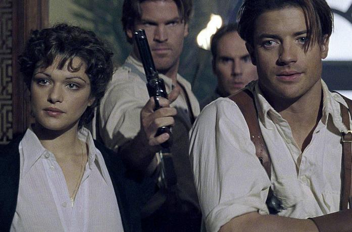 I protagonista di La Mummia in una scena del film