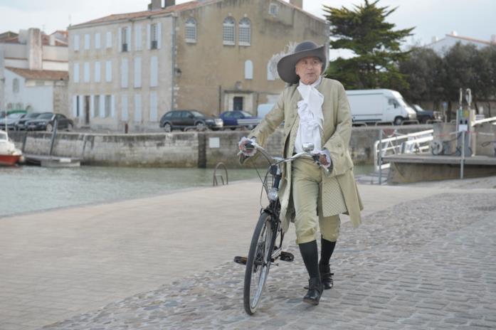 Fabrice Luchini in una scena di Molière in bicicletta
