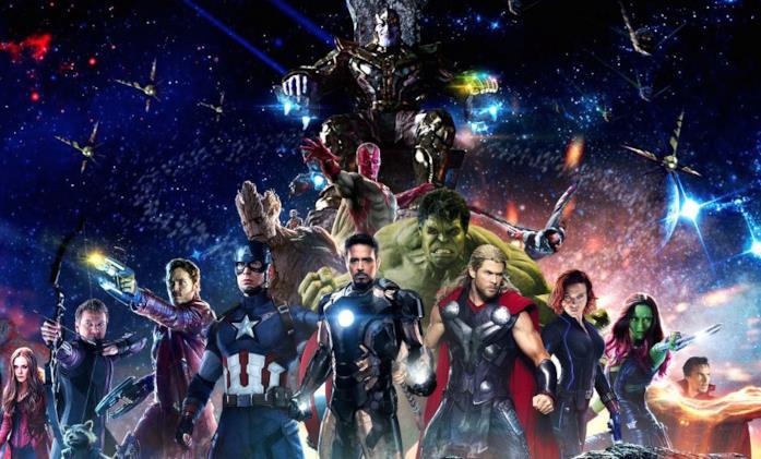 Tutti i supereroi dell'Universo Cinematografico marvel in una fan art