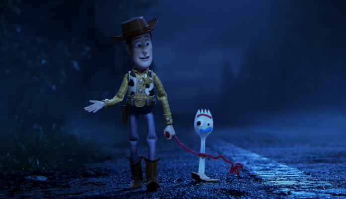 Woody e Forky in Toy Story 4