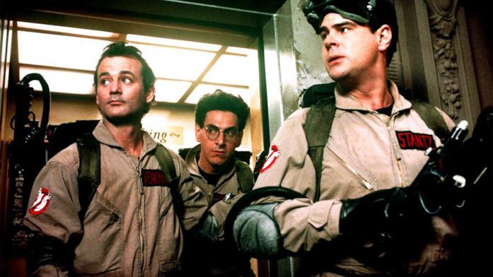Bill Murray, Harold Ramis e Dan Aykroyd interpretano Peter Venkman, Egon Spengler e Ray Stantz