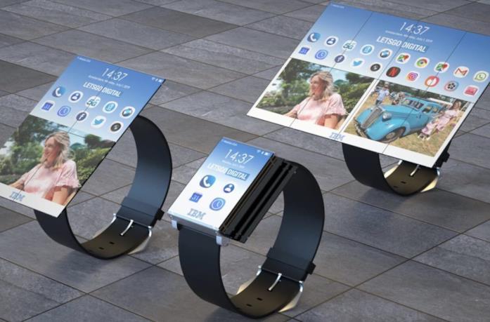 Il concept di LetsGoDigital dello smartwatch brevettato da IBM