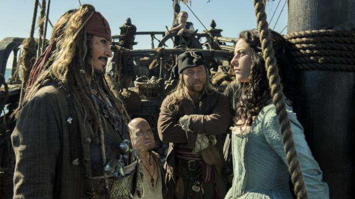 Una scena di Pirati dei Caraibi 5