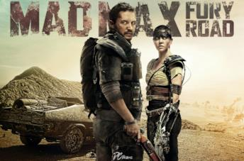 Thom Hardy e Charlize Theron in Mad Max: Fury Road