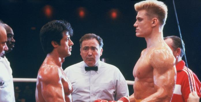 Sylvester Stallone e Dolph Lundgren in una scena del film