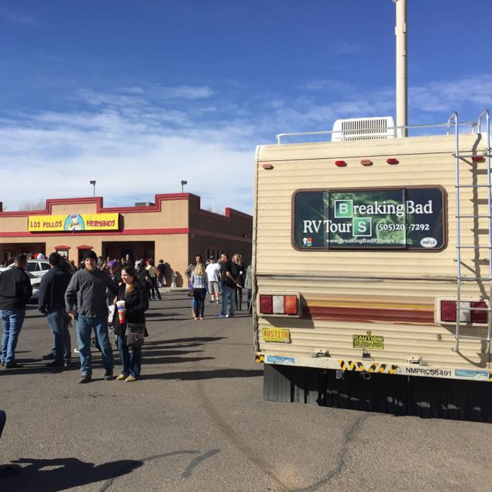 tour a tema Breaking Bad di Albuquerque, con Los Pollos Hermanos sullo sfondo