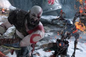 Kratos combatte nel nuovo God of War per PS4