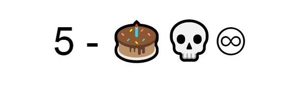Emoji Torta teschio infinito
