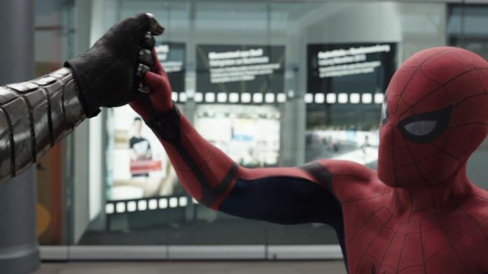 Spider-Man affronta Bucky in Captain america: Civil War