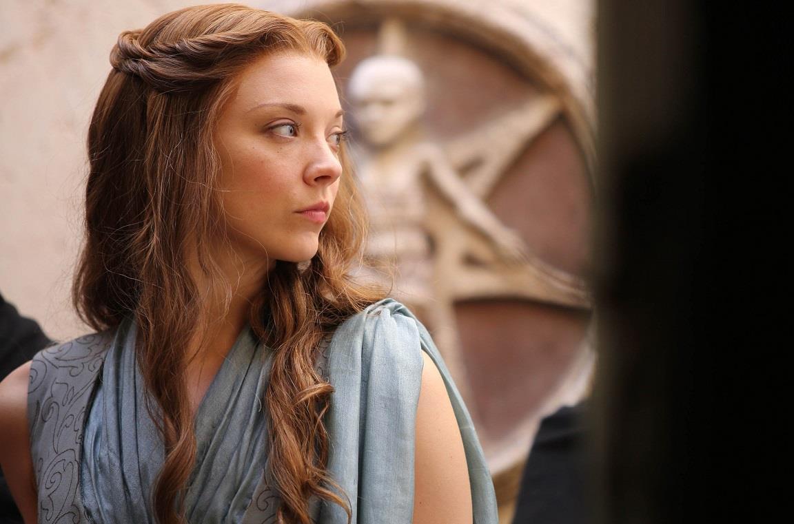 L'attrice Natalie Dormer in Game of Thrones