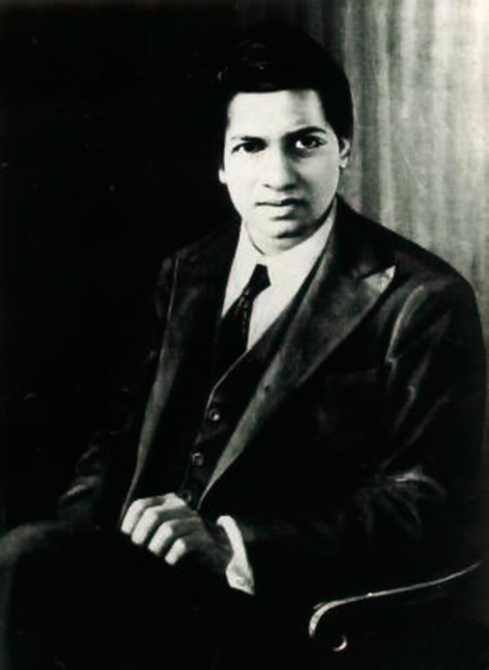 Un ritratto di Srinivasa Ramanujan