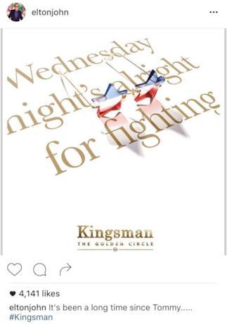 Teaser poster di Kingsman 2 dedicato a Elton John