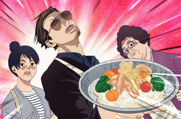 Il protagonista Tatsu e le sue amiche casalinghe