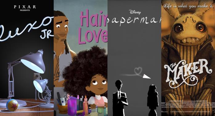 I poster di Luxo Junior, Hair Love, Paperman, The Maker