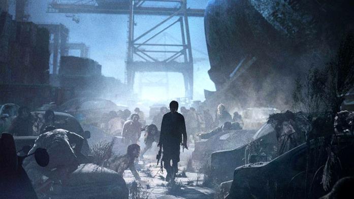 Una immagine promozionale di Peninsula mostra un militare di spalle e degli zombie vicini