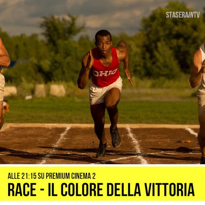 Race - Il colore della vittoria alle 21:15 Premium Cinema 2