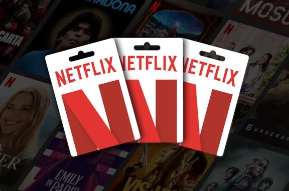 Tre carte regalo Netflix