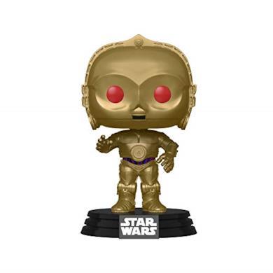 Funko- Pop Chrome Star Wars The Rise of Skywalker:-C-3PO Figura da Collezione, Multicolore, 48222