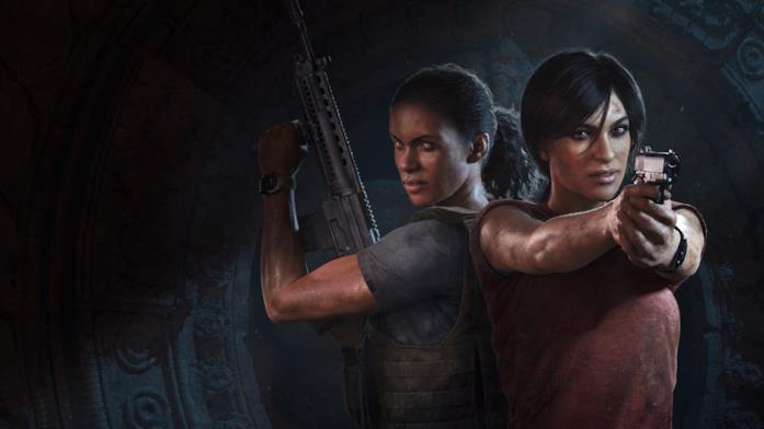 Chloe e Nadine sulla copertina di Uncharted: L'Eredità Perduta