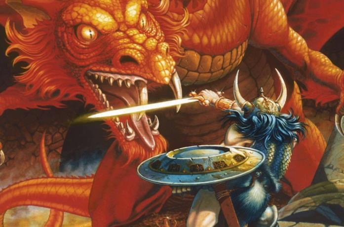 Un'immagine della cover del manuale del giocatore di Dungeons & Dragons