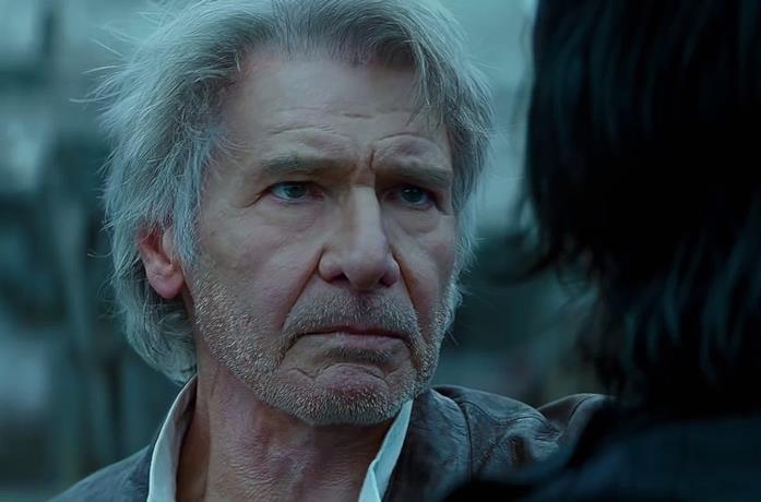 Il primo piano di Harrison Ford nel cameo in L'ascesa di Skywalker