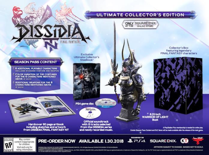 Dissida Final Fantasy NT debutterà il 30 gennaio 2018 su PS4