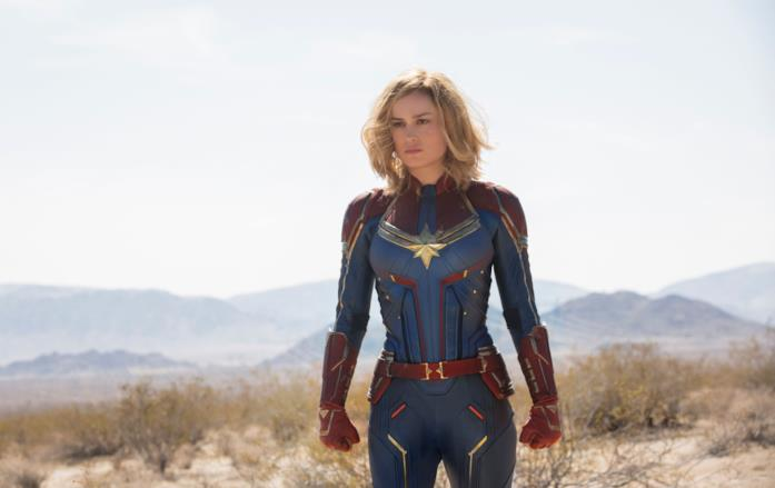 Brie Larson nei panni di Captain Marvel