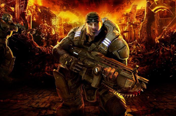 Marcus Fenix in Gears of War