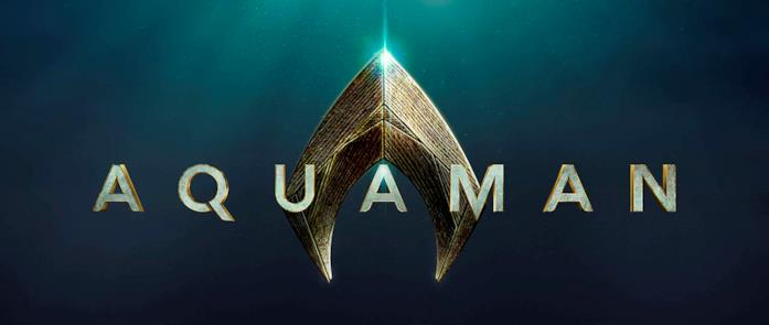 Il logo del prossimo film di Aquaman previsto per ottobre 2018