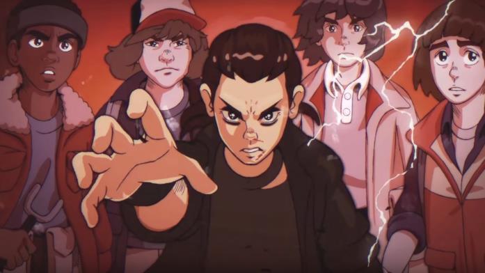 Stranger Things anime anni '80