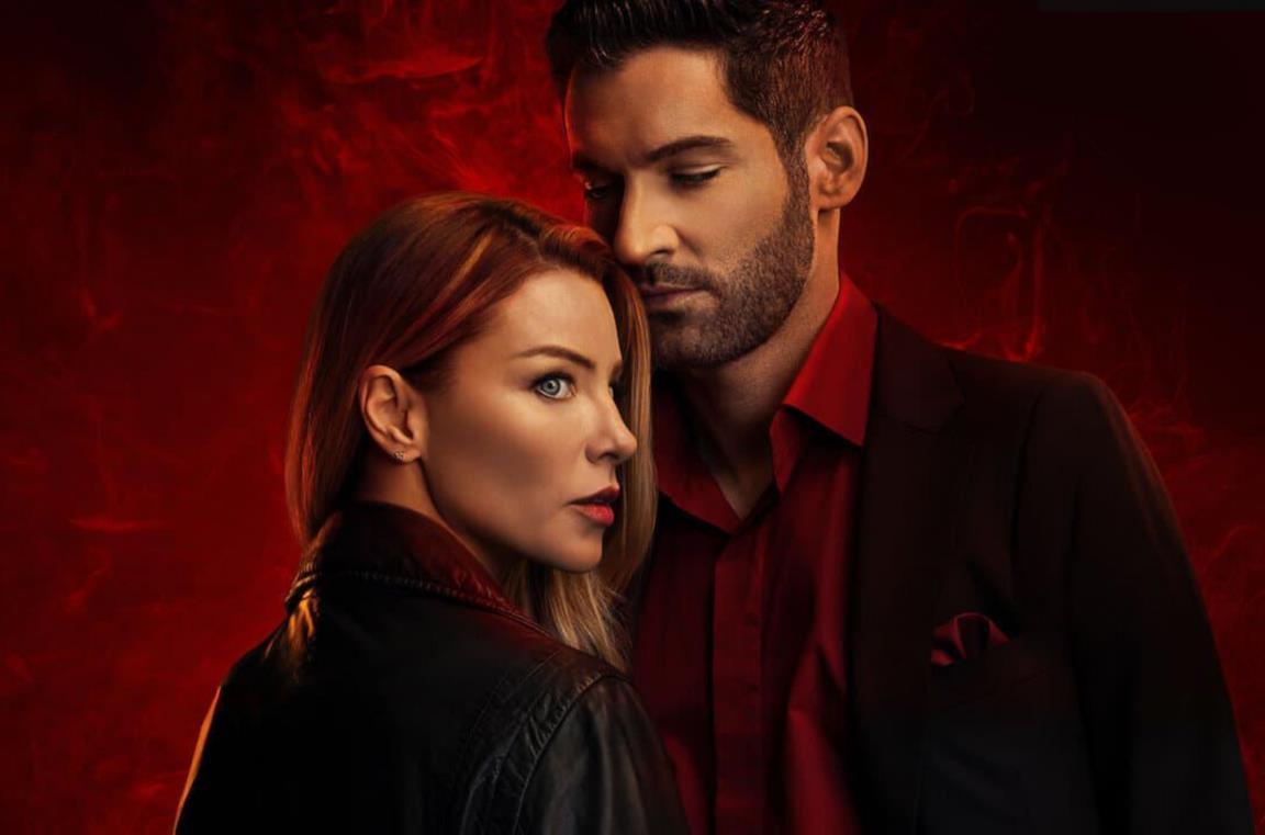 Chloe e Lucifer di profilo