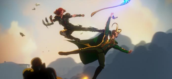 Vedova Nera dà un calcio a Loki