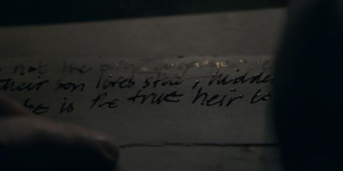 La lettera di Varys in Game of Thrones 8x05
