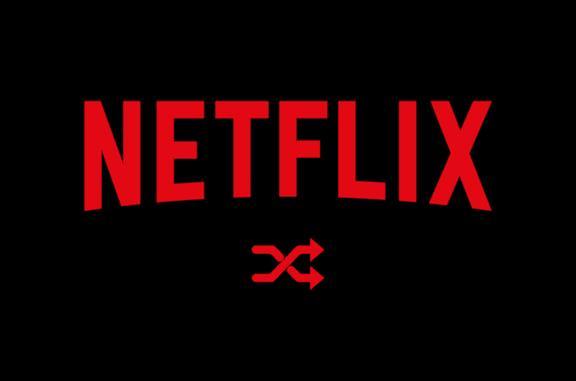 Sopra l'icona di Netflix, sotto l'icona della funzione Shuffle