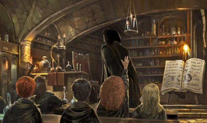 A lezione di Pozioni in Harry Potter: Hogwarts Mystery