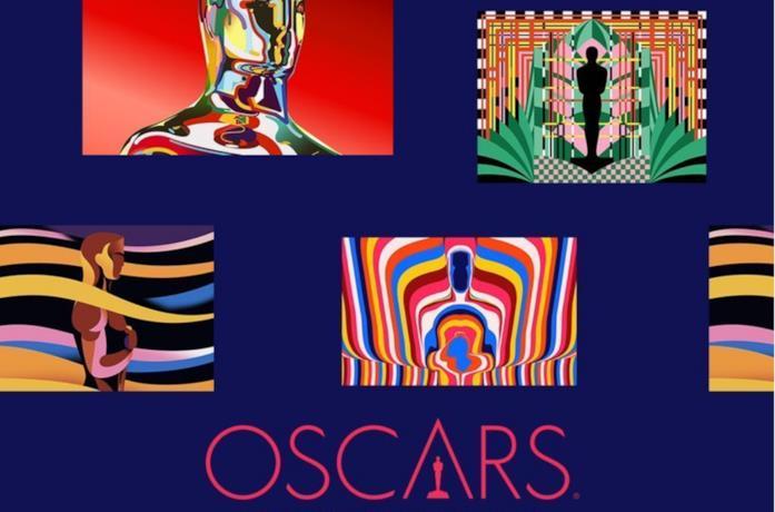 Un dettaglio della grafica dedicata nel poster degli Oscar 2021