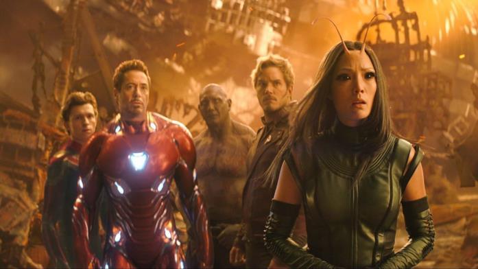 Gli eroi su Titano in Avengers: Infinity War