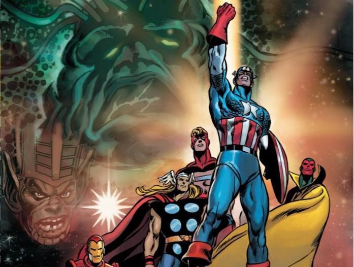 Dettaglio della cover di Avengers: Kree/Skrull War